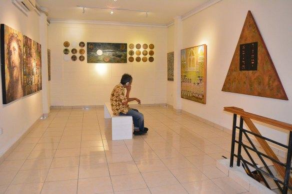 Suasana pameran perdana 2 di lantai 2 di Galeri Seruni_24 oct 2015